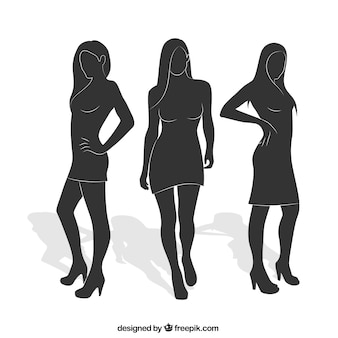 Woman silhouettes