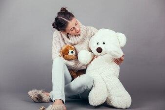 Woman sitting growing childhood lifestyle