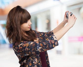 Woman taking a photo