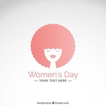 Women's day card with afro hair woman