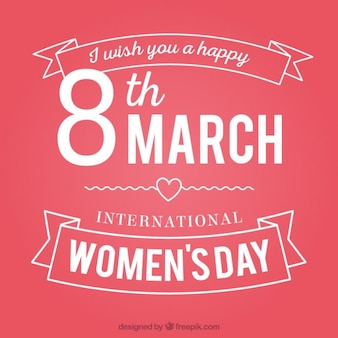 Women's day card with lettering