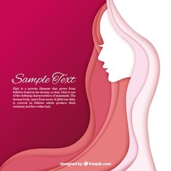 Women silhouette template