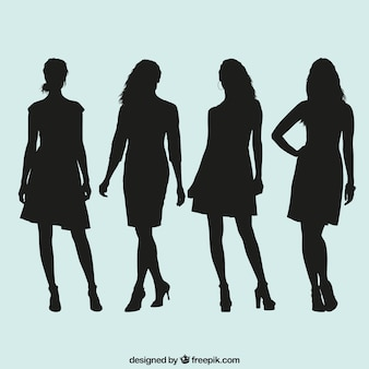 Women silhouettes collection