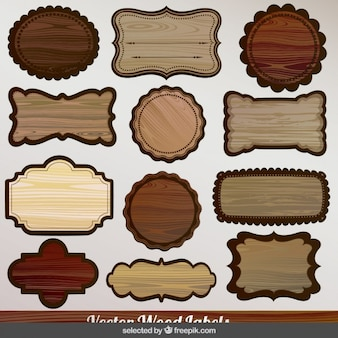 Wood labels collection