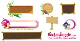 Wooden banner frames