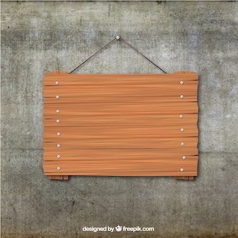 Wooden board hanging