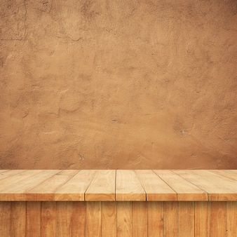 Wooden boards with a conglomerate background