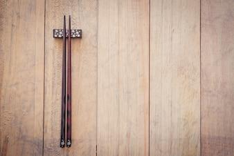 Wooden chopsticks.