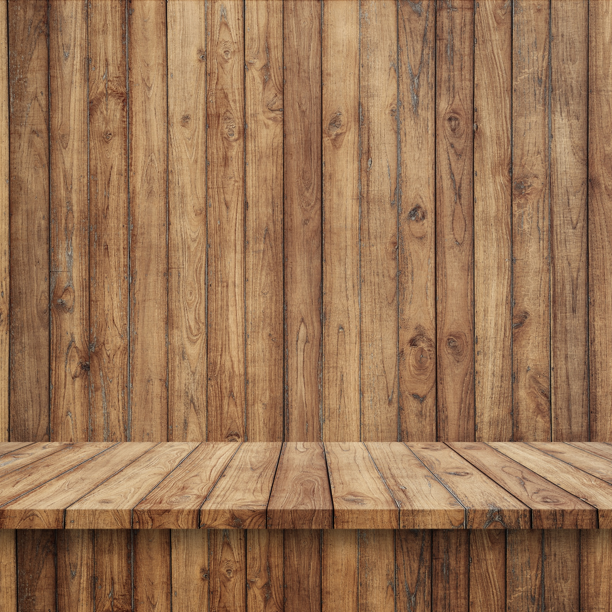 Link toWooden floorboards with wooden wall