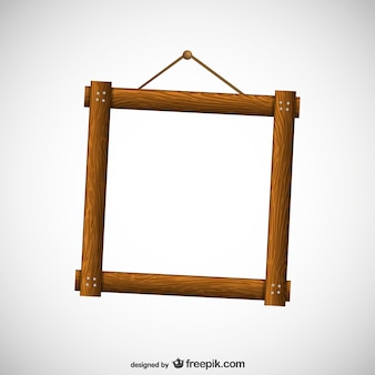Wooden frame free vector