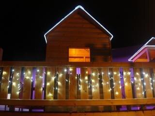 Wooden house  lights