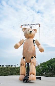 Wooden machenical huge teddy bear