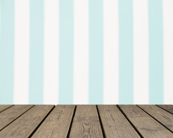 Wooden texture looking out to vertical striped background