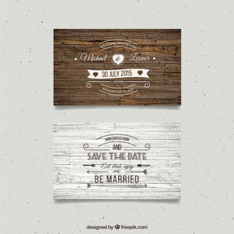 Wooden wedding cards