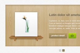 Woodslider template with cart button