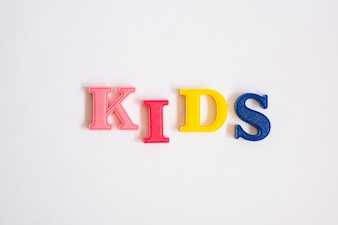 Word Kids made with letters