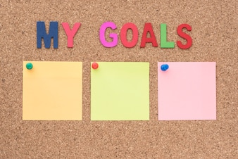 Words my goals with notepad