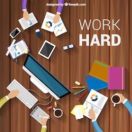 Work hard background