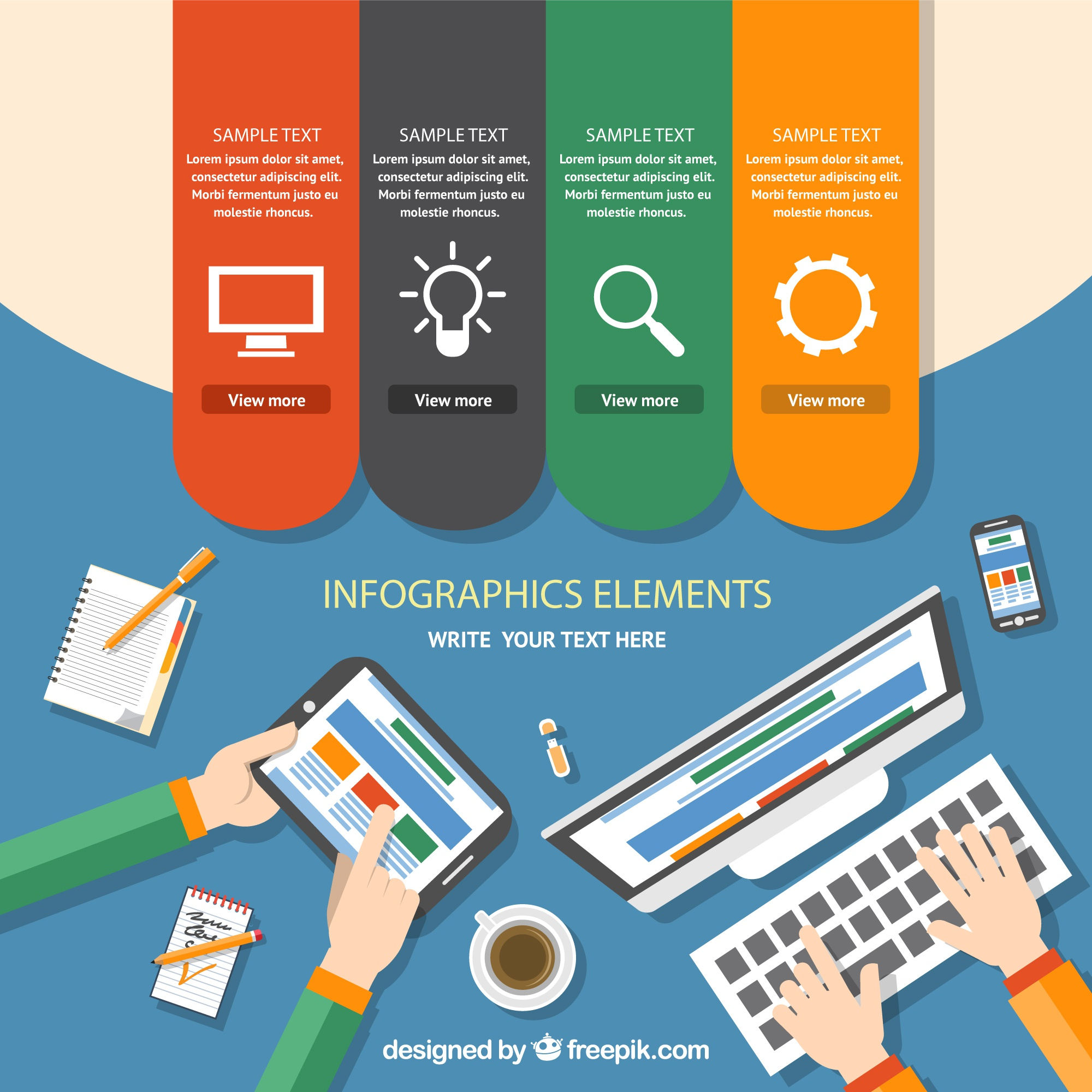 Workspace infographic