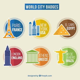 World city badges