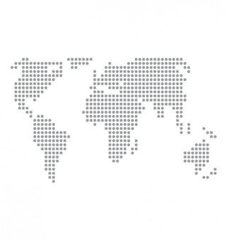 World map basic dots vector.
