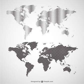 World map vector graphics