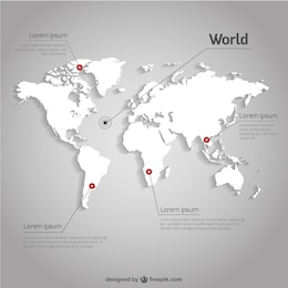 World map vector infographic template