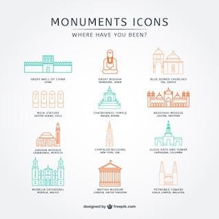 World monuments icons