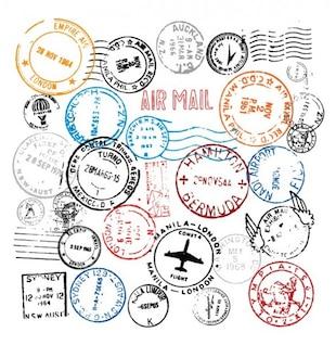 World Stamps Postmark vector set