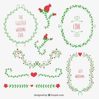 Wreaths for wedding decoration