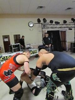 wrestling match  men