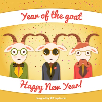 Year of the Goat cartoon
