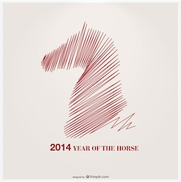 Year of The Horse Vector Design