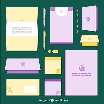 Yellow and purple branding pack