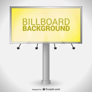 Yellow billboard vector