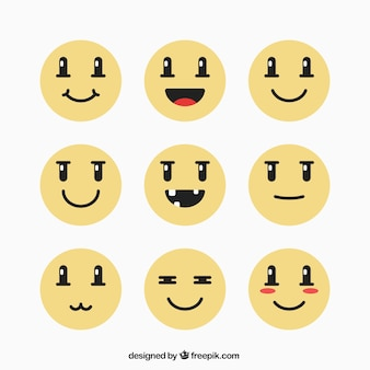 Yellow emoticon collection