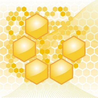 Yellow honeycomb hexagon geometric background