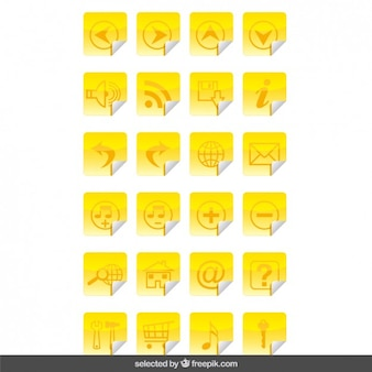 Yellow icons stickers