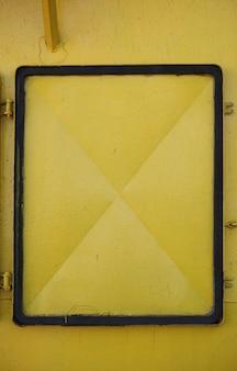 Yellow metal door