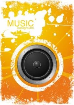 Yellow music background