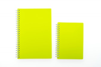Yellow notebooks with rings