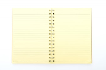 Yellow notepad open