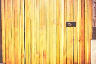 Yellow wood door