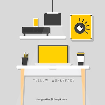 Yellow workspace