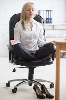 Yoga for businesspeople relaxation