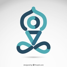 Yoga icon in abstract style