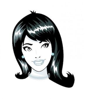 若い女性の顔