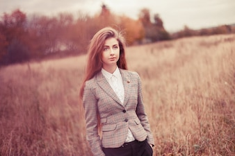 Young woman wearing jacket outdoors