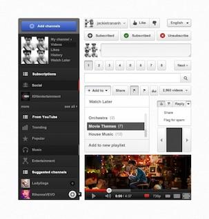 Youtube UI PSD