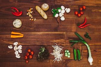 おいしい食べ物サラダ野菜のライフスタイル